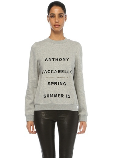Anthony Vaccarello Sweatshirt Gri